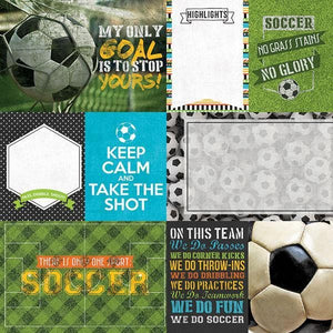 Soccer Tags Double-Sided Paper