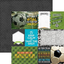 Load image into Gallery viewer, Soccer Tags Double-Sided Paper