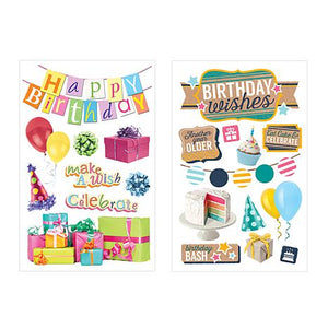 colorwashed birthday craft set