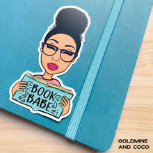 Load image into Gallery viewer, Book Babe Vinyl Sticker