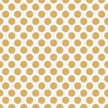 "Load image into Gallery viewer, Gold Dots 12"" Double Sided Foil Scrapbook Paper"