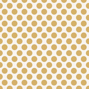 "Gold Dots 12"" Double Sided Foil Scrapbook Paper"