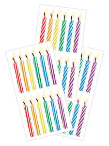 "Birthday Candles 2"" Stickers"