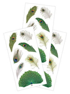 "Peacock Feathers 2"" Sticker"