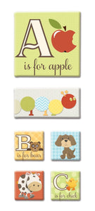ABCs canvas sticker