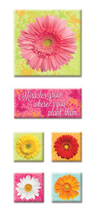 daisies canvas sticker