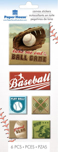 baseball canvas sticker