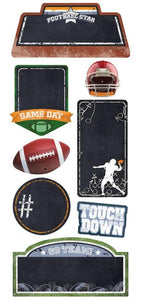 football chalkboard sticker