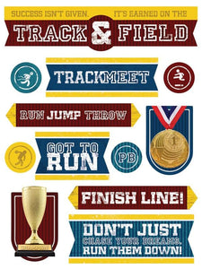 Track and Field Chipoxy Sticker