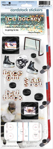 Hockey Cardstock Stickers