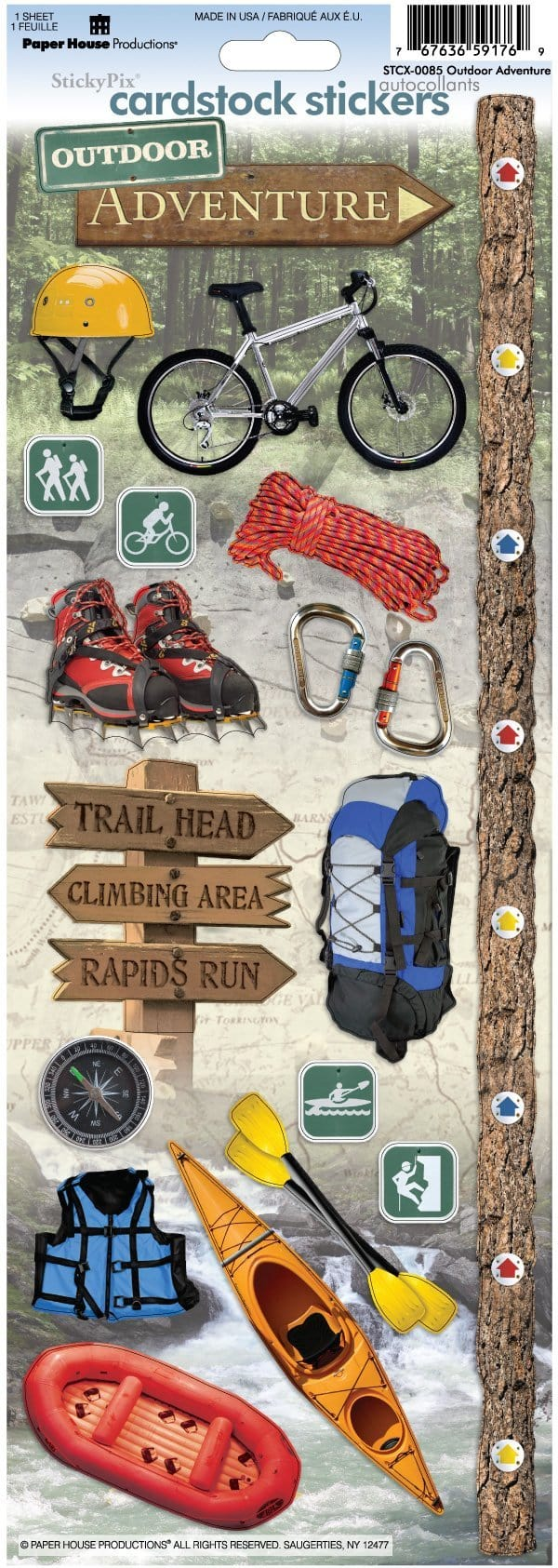Outdoor Adventure Cardstock Stickers