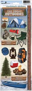 camping 2 cardstock stickers