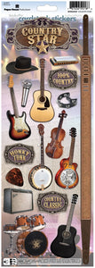 country star cardstock stickers
