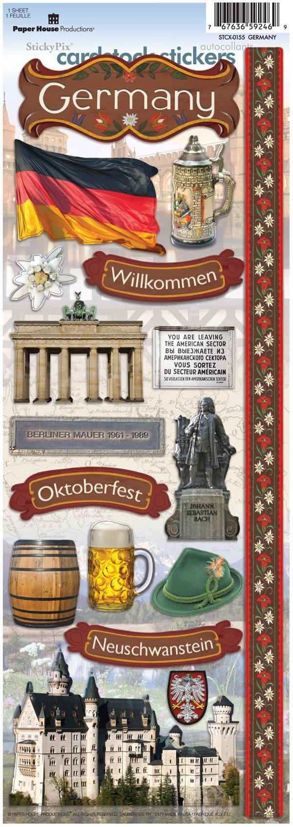 Germany Cardstock Stickers