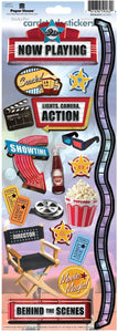 Movie Night Cardstock Stickers