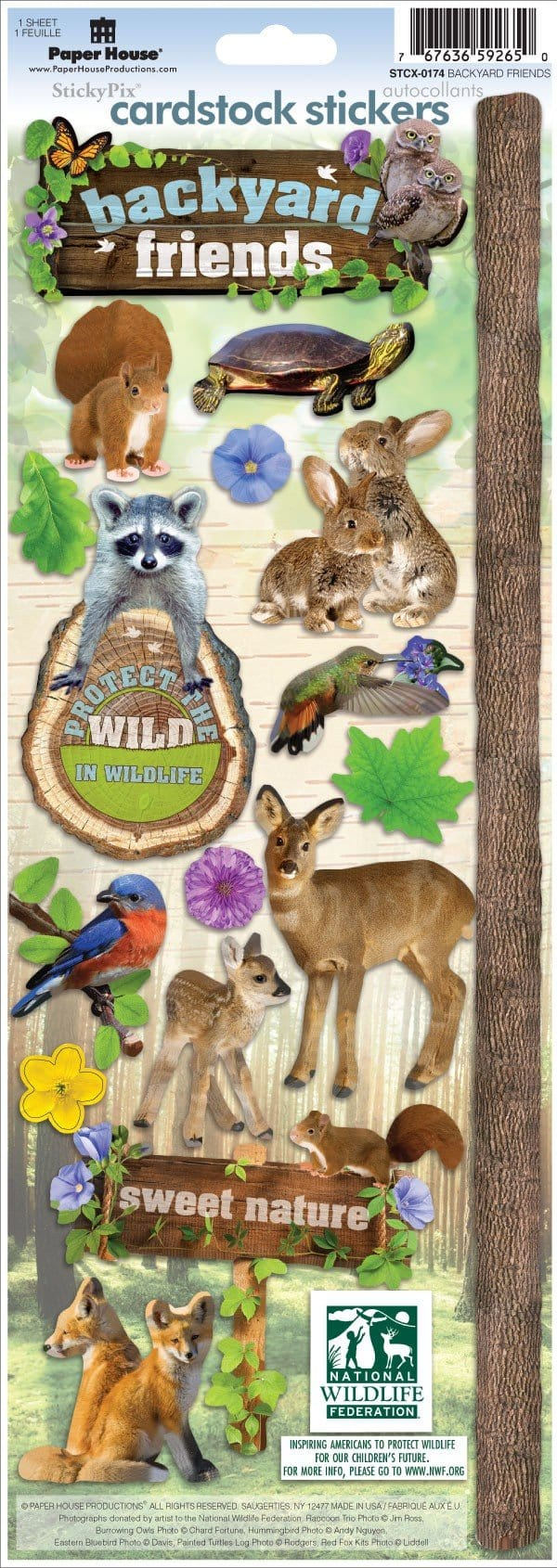 backyard friends cardstock stickers