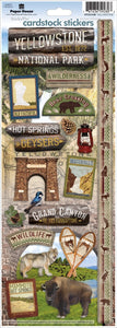Yellowstone Cardstock Stickers