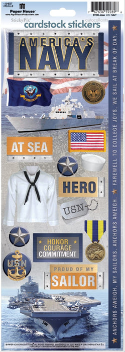 US Navy Cardstock Stickers