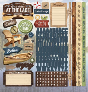 "Lake Life 12"" Cardstock Stickers"