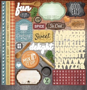 "delish 12"" cardstock stickers"