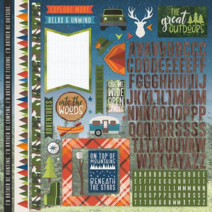 "Great Outdoors 12"" Cardstock Stickers"