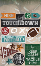 Load image into Gallery viewer, football cardstock sticker multipack
