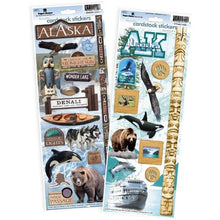 Load image into Gallery viewer, Alaska cardstock sticker value pack