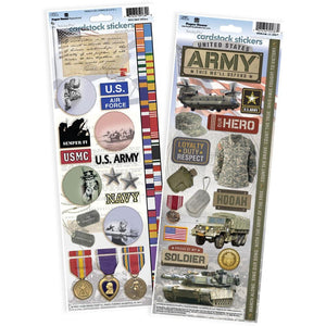 United States Army Cardstock Sticker Value Pack