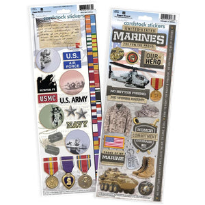 United States Marines Cardstock Sticker Value Pack