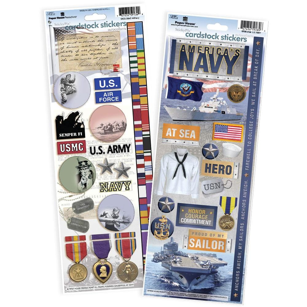 United States Navy Cardstock Sticker Value Pack