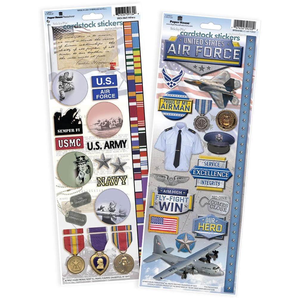 United States Air Force Cardstock Sticker Value Pack