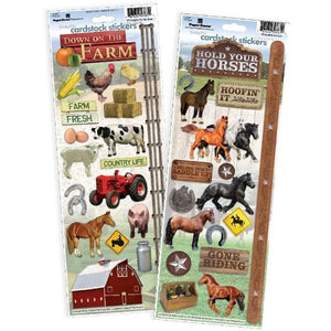 Horse/Farm Cardstock Sticker Value Pack