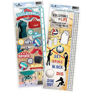 Volleyball Cardstock Sticker 2pk