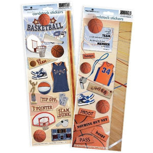 basketball cardstock sticker value pack