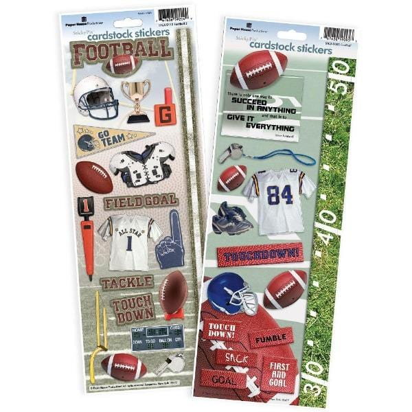 Football Cardstock Sticker 2pk
