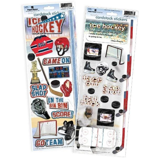 Ice Hockey Cardstock Sticker Value Pack