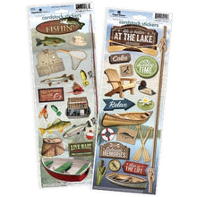 Load image into Gallery viewer, fishing/lake cardstock sticker value pack