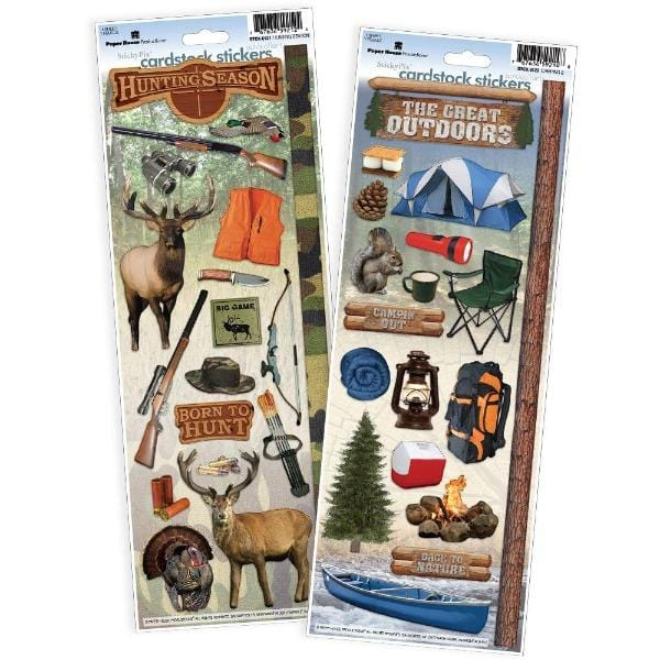 Hunting/Outdoors Cardstock Sticker 2pk