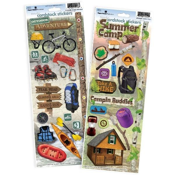 Outdoors/Camping Cardstock Sticker Value Pack