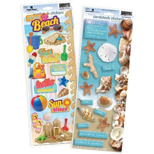 beach cardstock sticker value pack