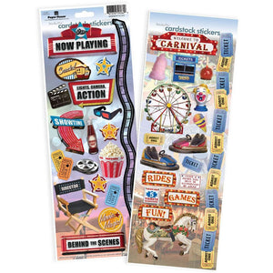 Movie & Carnival Cardstock Sticker Value Pack