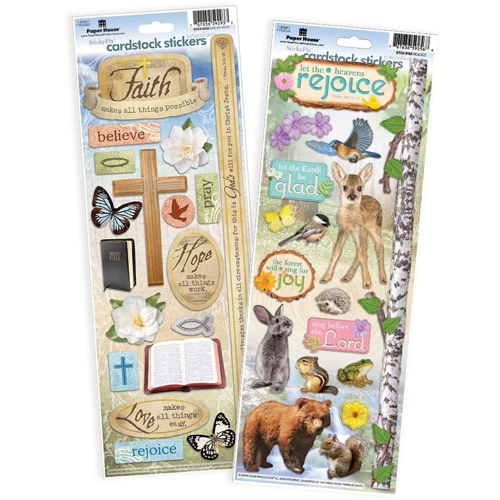 Live by Faith Cardstock Sticker Value Pack
