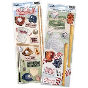baseball cardstock sticker value pack