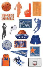 Load image into Gallery viewer, basketball diecut sticker pack