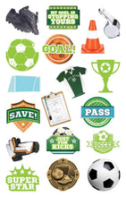 Load image into Gallery viewer, Soccer Diecut Sticker Pack
