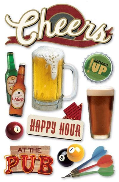 cheers 3d sticker