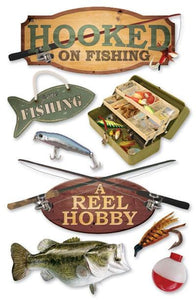 fishing 3d sticker