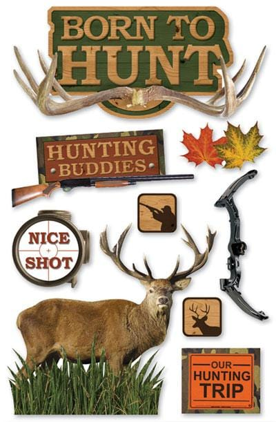 Born to Hunt 3D Sticker