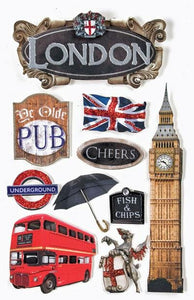 London 3D Sticker
