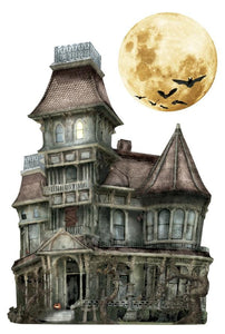 Haunted House  3D Sticker